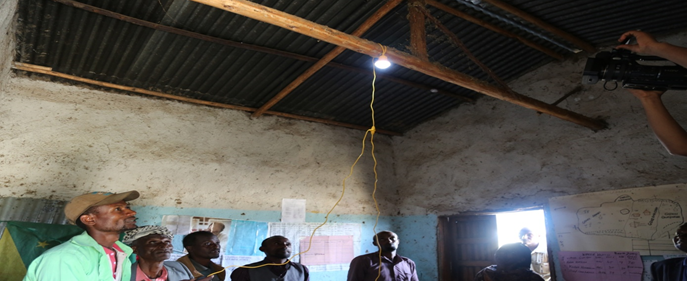 Solar lights distributed and demonstrated to the economically poor farmers